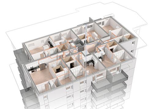 Merkezi Süpürge sistemi Apartman