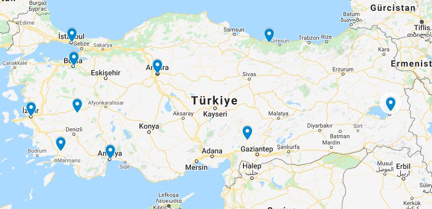 Merkezi Süpürge Bölge Harita